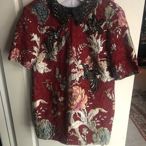 Zara brocade tunic never worn